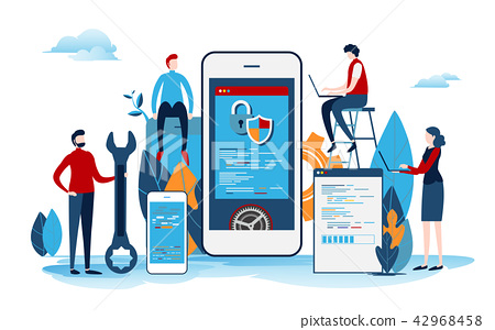 Developers create the startup project. 42968458