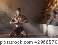 Ancient Muay Thai Martial Arts freehand dangerous. 42968570