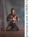 Ancient Muay Thai Martial Arts freehand dangerous. 42968571