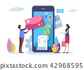Shopping online. Digital payment with smartphone.  42968595