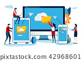 Cloud system. Big data. online network.  42968601
