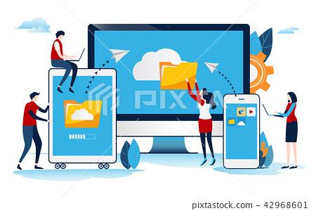 Cloud system. Big data. online network.  42968601