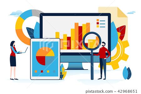 Data analysis. Business content. flat cartoon 42968651
