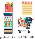 Vector set supermarket icons 42970985