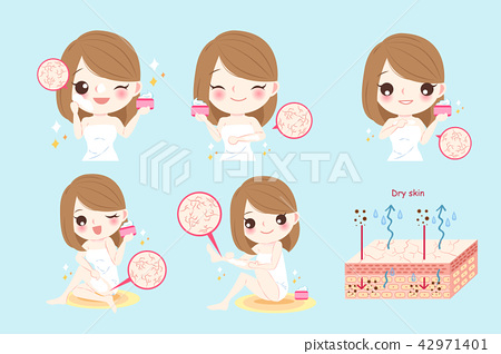 woman with dry skin concept 42971401