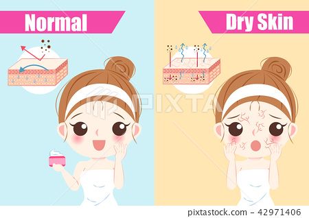 woman with dry skin concept 42971406