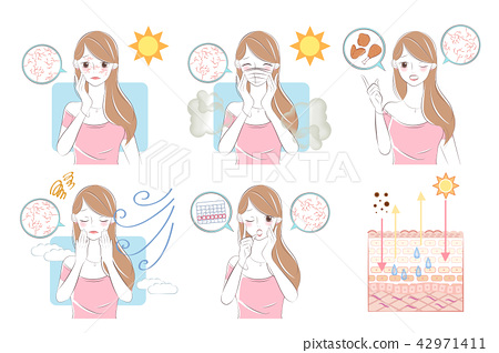 woman with dry skin concept 42971411