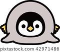 帝企鵝的孩子躺著 42971486