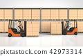 物流倉庫和叉車 42973314