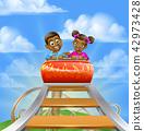 Roller Coaster Fair Theme Park 42973428