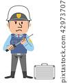治安警卫现金运输例证 42973707
