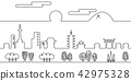 City line drawing Kyoto 42975328