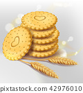 Biscuit cookies or whole wheat cracker 42976010