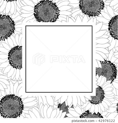 Sunflower Outline Banner Card Stock Illustration 42976122 Pixta Sunflower flower outline sunflower outline and. https www pixtastock com illustration 42976122
