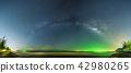Landscape view of Milky way in night sky  42980265