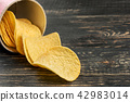 Potato chips with cheese 42983014