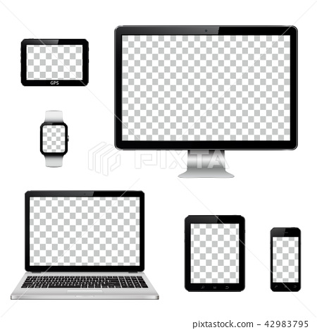 Modern technology devices with transparent screen 42983795