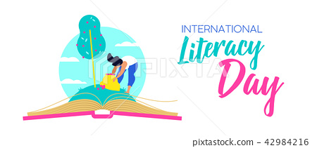 Literacy Day web banner for world education 42984216