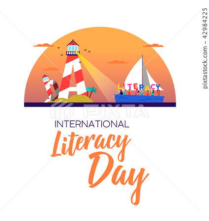 Literacy day banner concept for kids education 42984225