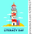 literacy education lighthouse 42984227