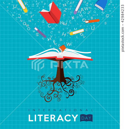 World Literacy Day book tree concept for education 42984233