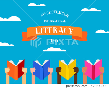 World Literacy Day concept of people with books 42984238