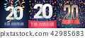 20, vector, anniversary 42985683