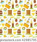 pattern of cartoon elements of beekeeping 42985795