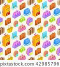 pattern of colorful isometric bags 42985796