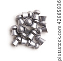 Lead airgun pellets. 42985936