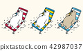 Bear vector polar bear beach Holiday illustration 42987037