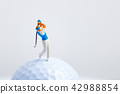 골프 공 및 미니어처 인간 42988854