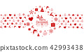 Christmas background with element icons banner 42993438