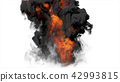 Big explosion effect white background, Big Boom 42993815