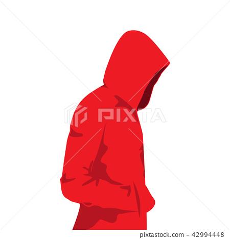 Man in the hood , vector 42994448
