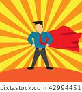 super businessman , vector 42994451