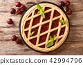 Homemade summer pastries cherry pie Crostata 42994796