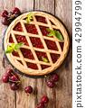 Homemade summer pastries cherry pie Crostata 42994799
