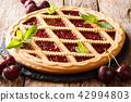 Homemade summer pastries cherry pie Crostata 42994803