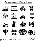 Amusement park & Festival icon set 42995523