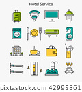 Hotel service linear icons 42995861