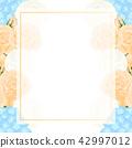 Orange Rose, Blue Hydrangea Ranunculus Banner 42997012
