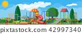 Kids playground kindergarten panorama 42997340