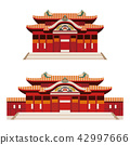 Shuri Castle Okinawa Historic Building Illustration 42997666