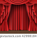 Stage curtain realistic  42998184
