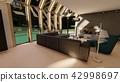 Modern interior, 3D rendering 42998697