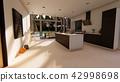 Modern interior, 3D rendering 42998698