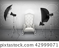 Vector photo studio with armchair and softboxes 42999071