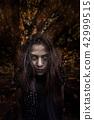Horror Scene of Possessed Woman halloween concept 42999515