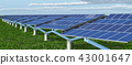 Solar panels in a landscape 43001647